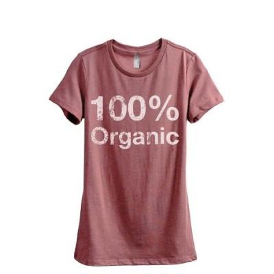 レディース 衣類 トップス 100% Organic Women's Fashion Relaxed T-Shirt Tee Heather Rouge Small Tシャツ