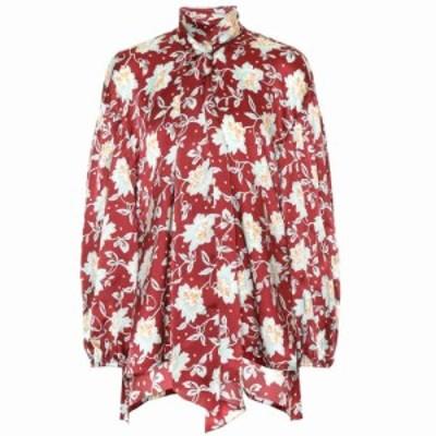 クロエ Chloe レディース ブラウス・シャツ トップス Floral silk blouse Red Blue