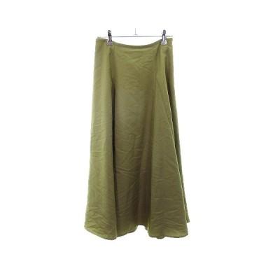 【中古】ルノンキュール Lugnoncure スカート フレア ミモレ丈 無地 F 緑 グリーン /MO レディース 【ベクトル 古着】