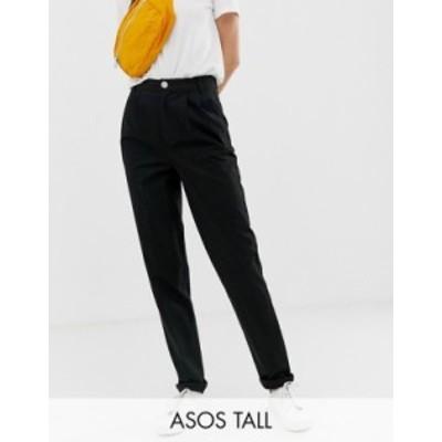 エイソス レディース カジュアルパンツ ボトムス ASOS DESIGN Tall chino pants Black