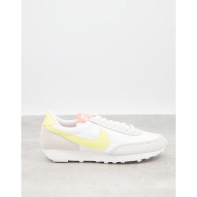 ナイキ Nike レディース スニーカー シューズ・靴 Daybreak Trainers In Off White And Yellow