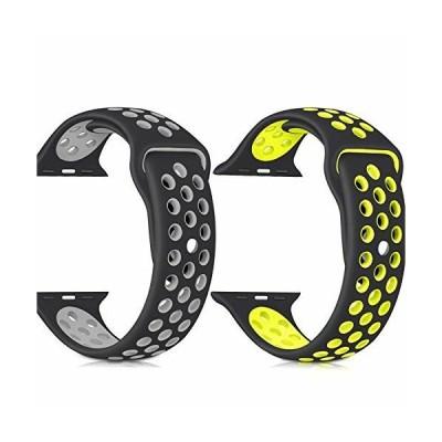 コンパチ Apple watch バンド シリコン製 Apple Watch Series 6/5/4/3/2/1/SE に対応バンド スポーツベルト アップルウォッ