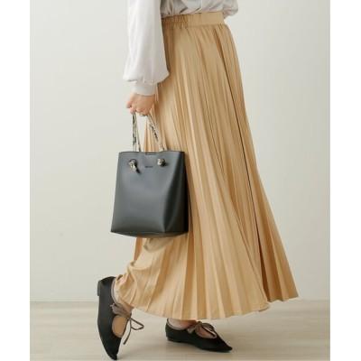 Ray Cassin / エコレザー風プリーツースカート WOMEN スカート > スカート