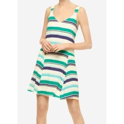 Sanctuary サンクチュアリ ファッション ドレス Sanctuary NEW Green Womens Size XS Striped V-Neck A-Line Dress