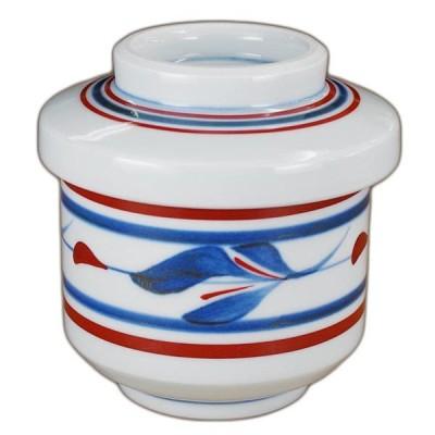 砥部焼 梅山窯 茶碗蒸し碗(三つ葉)