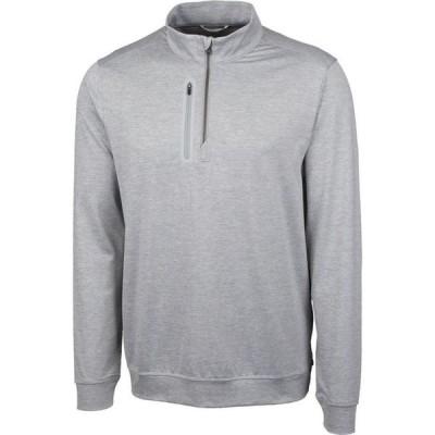 カッター&バック Cutter & Buck メンズ スウェット・トレーナー 大きいサイズ トップス Big and Tall Stealth Half Zip Sweatshirt Polished