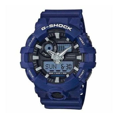カシオ 腕時計 Casio G-Shock GA-700-2A Standard Analog Digital Blue Resin Alarm メンズ Watch