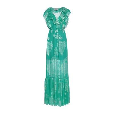 ATELIER NICOLA D'ERRICO ロングワンピース&ドレス エメラルドグリーン 42 シルク 100% ロングワンピース&ドレス