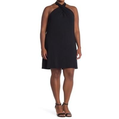 タルト レディース ワンピース トップス Rumi Halter Neck Dress (Plus Size) BLACK