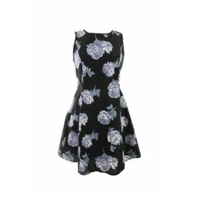 Made  ファッション ドレス Made For Impulse NEW Black Sleeveless Floral Neckline Dress