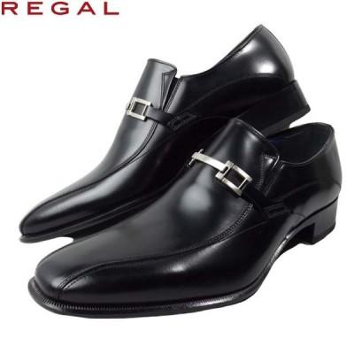 REGAL 27FR BB ブラック リーガル メンズ ビジネス シューズ ビット モカシン 本革 ゴム スリッポン 日本製 ロングノーズ