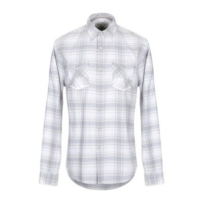 ゲス GUESS シャツ ライトグレー S コットン 100% シャツ