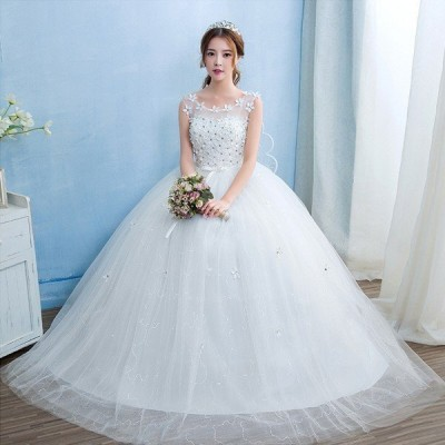 ウェディングドレス/ドレス/結婚式/二次会/ホワイト/花嫁/ウェディング/エンパイア/白ドレス/ロングドレス/披露宴
