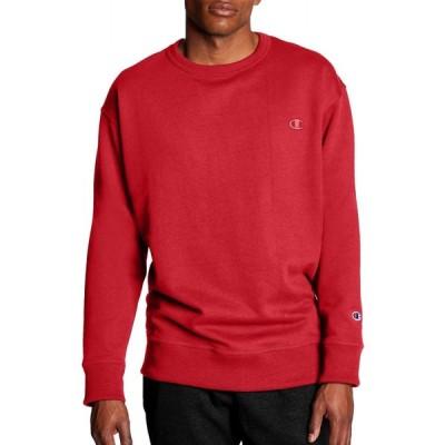 チャンピオン Champion メンズ スウェット・トレーナー トップス Powerblend Fleece Crewneck Sweatshirt Team Red Scarlet