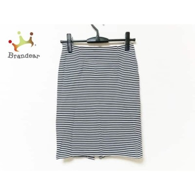 エストネーション ESTNATION スカート サイズ36 S レディース 美品 黒×白 ボーダー     スペシャル特価 20191029