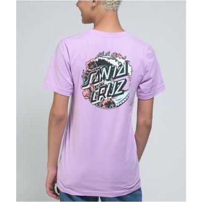 サンタクルーズ SANTA CRUZ SKATE レディース Tシャツ トップス Santa Cruz Wave Dot Splice Lilac T-Shirt Purple