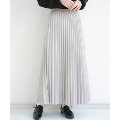 【ハコ】 たちまち旬顔!ニットにもスウェットにも似合うフェイクスエードのプリーツスカート by Nohea レディース グレー M haco!