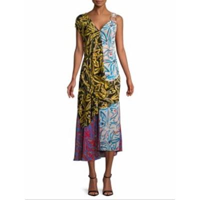 ダイアンフォンファステンバーグ レディース ワンピース Asymmetric Draped Combo Dress