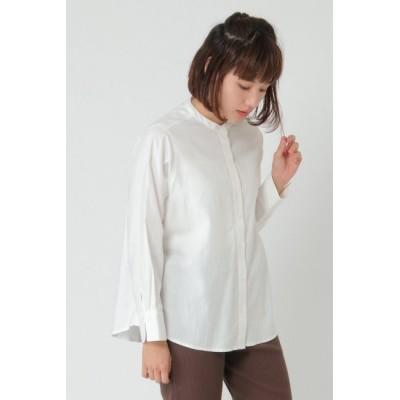 【エルビーシーウィズライフ/Lbc with Life】 コットンバンドカラーシャツ