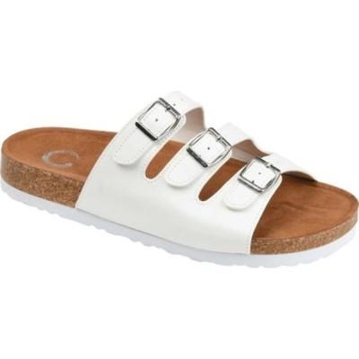 ジャーニーコレクション サンダル シューズ レディース Desta Slide (Women's) White Faux Leather