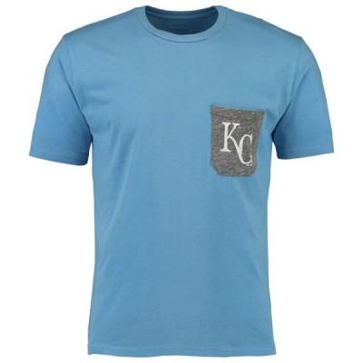 ユニセックス スポーツリーグ メジャーリーグ Kansas City Royals Majestic Threads Softhand Pocket T-Shirt - Light Blue Tシャツ