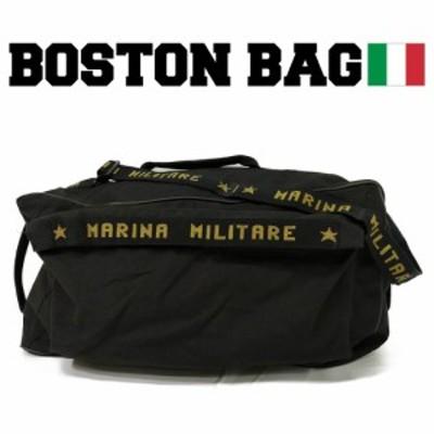 【送料無料】ミリタリー イタリア海軍 ボストンバッグ ショルダー 軍モノ 軍物 大きめ 大容量 USED 古着 ヴィンテージ コットンキャンバ