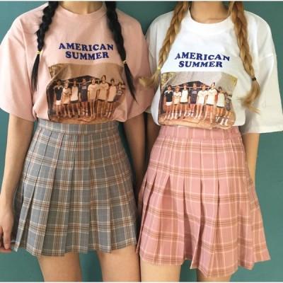 スカートショートスカットチェック柄かわいい2色 ハイウエスト ショート丈 Aライン ミニスカート
