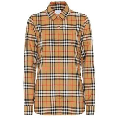 バーバリー Burberry レディース ブラウス・シャツ トップス Vintage Check cotton shirt antique yel IP check
