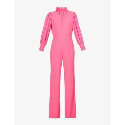 アリス アンド オリビア ALICE & OLIVIA レディース オールインワン ジャンプスーツ ワンピース・ドレス Ozella puff-sleeve crepe jumpsuit WILD PINK