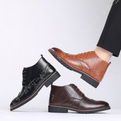 大きいサイズ ブーツ メンズ マーティンブーツ カッコいい ウイングチップ オシャレ 滑り止め カジュアル ワークブーツ 山登り 紳士靴 飲み会 プレゼント 軍靴