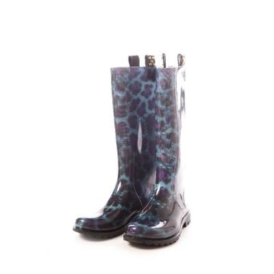 ジャストカヴァリ JUST CAVALLI ブーツ 長靴 レディース WW0010 10018 ブルー G-SALE 目玉商品_SP1