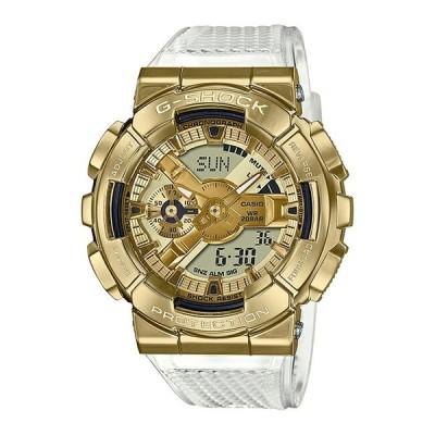 CASIO G-SHOCK カシオ Gショック GM-110SG-9AJF 腕時計 メンズ キッズ 子供 男の子 アナデジ 防水 ゴールド 金 ホワイ