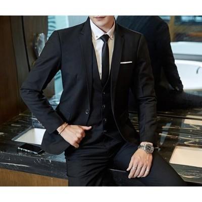 2点セット ジャケット&ズボン メンズ スーツ ジャケット レギュラー 紳士服 お洒落 韓国風 結婚式 パーティー  成人式 通勤 面接 宴会