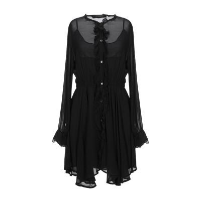 メッサジェリエ MESSAGERIE ミニワンピース&ドレス ブラック 38 レーヨン 100% ミニワンピース&ドレス