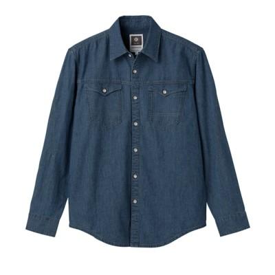 KURODARUMA 25877 綿100%長袖デニムシャツ カジュアルシャツ, Shirts,