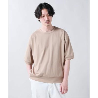 メンズ ジャーナルスタンダード ハイゲージスムース クルーネックTシャツ ベージュ XL