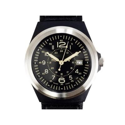 TRASER トレーサー メンズ腕時計 9031553 TYPE3 PILOT SV ブラック ミリタリーウォッチ