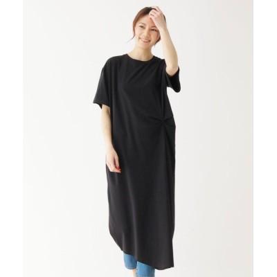 【シューラルー】 サイドタックスーピマコットン(綿)ワンピース レディース ブラック 02(M) SHOO・LA・RUE