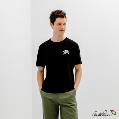 Arnold Palmer -男裝-塗鴉小LOGO T恤-黑色