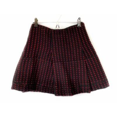 ミュウミュウ miumiu ミニスカート サイズ38 S レディース 黒×レッド【中古】20210223