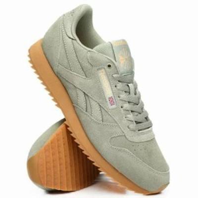 リーボック スニーカー cl leather mu sneakers Olive