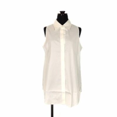 【中古】セオリー theory WALVIL IMPECCABLE ノースリーブシャツ ブラウス 2 ホワイト 白 01-2308214 春夏 レディース