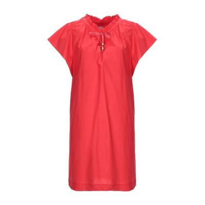 BIANCOGHIACCIO ミニワンピース&ドレス レッド 44 コットン 100% ミニワンピース&ドレス
