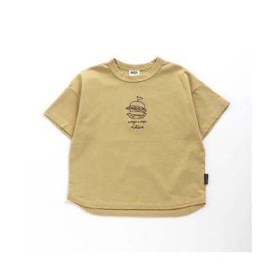 【エフオーオンラインストア】 10柄モチーフ刺繍Tシャツ キッズ イエロー 100 F.O.Online Store