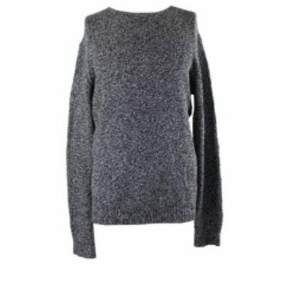 Calvin Klein カルバンクライン ファッション トップス Calvin Klein Black Silver Mouline Boucle Sweater XXL