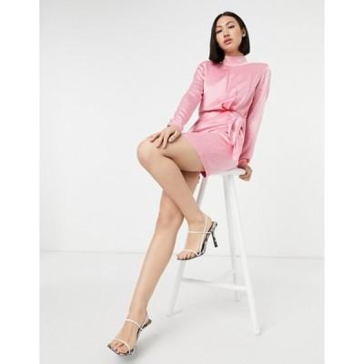 アンドアザーストーリーズ レディース ワンピース トップス & Other Stories mini dress with tie detail in pink