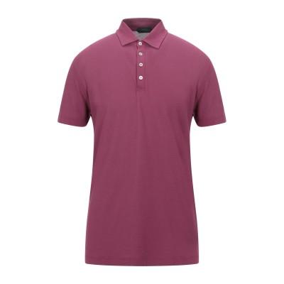 ZANONE ポロシャツ ガーネット 44 コットン 100% ポロシャツ
