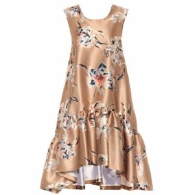 ロシャス Rochas レディース ワンピース ワンピース・ドレス Floral satin dress Medium Beige