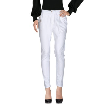 マニラ グレース MANILA GRACE パンツ ホワイト 25 コットン 98% / ポリウレタン 2% パンツ