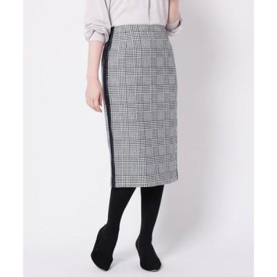 Modify / モディファイ ウール混グレンチェックタイトスカート